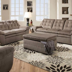 Modern Nimbus Seal Leather Tufted Sofa Couch Loveseat Living Room - The Devyn sofa collection is an excellent addition for any spare or entertaining room. The overstuffed cushion and bottom tufted seatback will keep you snug and comfortable.
