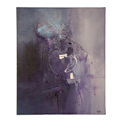 """N/A - 'Awakening' Original Painting - """"Awakening"""" by Dan Nash Gottfried incorporates a cool-toned palette of gray and purple with highlights of light blue and white. It's an artful centerpiece for your home or office."""