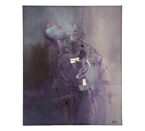 "N/A - 'Awakening' Original Painting - ""Awakening"" by Dan Nash Gottfried incorporates a cool-toned palette of gray and purple with highlights of light blue and white. It's an artful centerpiece for your home or office."