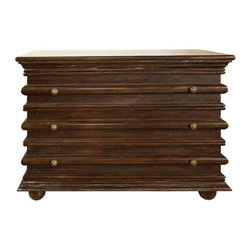 NOIR - NOIR Furniture - Ascona small chest - DRE137, Hand Rubbed Brown - Ascona Collection  Side Table