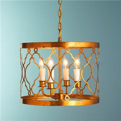 Trellis Drum Lantern - I adore this lantern! Gold is in and this light would be perfect to update your space.