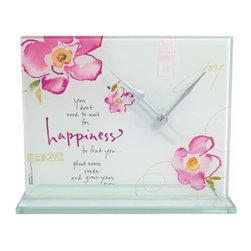 """WL - 7 Inch """"Happiness"""" Square Desk Clock Collectible Decoration Statue - This gorgeous 7 Inch """"Happiness"""" Square Desk Clock Collectible Decoration Statue has the finest details and highest quality you will find anywhere! 7 Inch """"Happiness"""" Square Desk Clock Collectible Decoration Statue is truly remarkable."""
