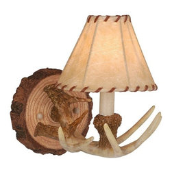 Vaxcel Lighting - Vaxcel Lighting WL33041NS Lodge Traditional Wall Sconce - Created from faux rustic materials to form a realistic lodge motif.