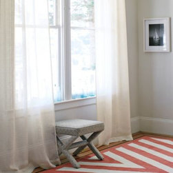 Serena & Lily - Ribbon Stripe Window Panel - Made of the softest linen, our panel is sheer and beautiful on its own or layered with a more substantial panel. Delicately woven stripes add just the right hint of color