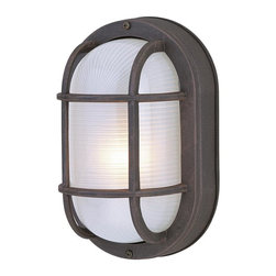 Craftmade - Small Oval Cast Ceiling Mount Outdoor Light ( - Finish: Matte BlackBulb Type: A-Type. Max Watt: 1x60W. Glass Finish: Frosted Halophane. Height: 8.5 in.. Width: 5.0 in.. Type of Fixture: Small Flushmount. Extension: 4.5 in.. Top to Outlet: 4.2 in.