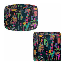 DiaNoche Designs - Ottoman Foot Stool  - George Was Simply to Fabulous to Fit In - Lightweight, artistic, bean bag style Ottomans. You now have a unique place to rest your legs or tush after a long day, on this firm, artistic furtniture!  Artist print on all sides. Dye Sublimation printing adheres the ink to the material for long life and durability.  Machine Washable on cold.  Product may vary slightly from image.