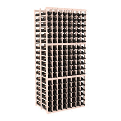 Wine Racks America - 8 Column Double Deep Cellar in Pine, White Wash - This high capacity 8 column wine rack holds up to 24 cases of wine. Designed for beauty and efficiency, you'll love this rack. Made in the USA and guaranteed to last a lifetime. Double deep wine racks are perfect for large wine cellars and retail applications. Great for restaurants, bars or private collections.