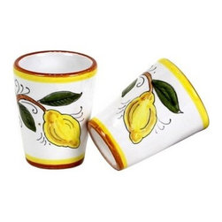 Artistica - Hand Made in Italy - TOSCANA: Limoncello Cups (Set of TWO) - About Limoncello: