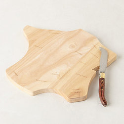 Anthropologie - France Cheese Board - What better way to display your fromage than on a France cheese board cut in the shape of this fine destination?