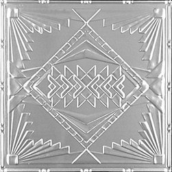 """Decorative Ceiling Tiles - Prairie House - Aluminum Ceiling Tile - 24""""x24"""" - #2488 - Find copper, tin, aluminum and more styles of real metal ceiling tiles at affordable prices . We carry a huge selection and are always adding new style to our inventory."""