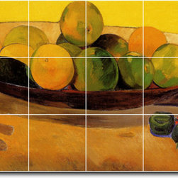 Picture-Tiles, LLC - Still Life With Tahitian Oranges Tile Mural By Paul Gauguin - * MURAL SIZE: 36x72 inch tile mural using (18) 12x12 ceramic tiles-satin finish.