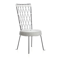 Fish High-Back Harlequin Chair, White Seat/Black Back - I love the creative design of this chair. It is so fun and festive.
