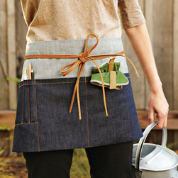 Garden Utility Waist Apron - I like to wear a handy garden apron to keep my essential tools close by. I especially love this denim beauty from Williams-Sonoma.