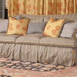 E.J. Victor - E.J. Victor Berber Kammlah Eliza McMichael Sofa - Berber-Kammlah discerning eye for color and texture plus her love of antiquity are clearly evident in this collection. E.J. Victor has interpreted her unique through a special new vision of high quality antique style rugs. Each rug is like an heirloom an exquisite relic from the past. Featuring premium hand spun wool and the expert handcrafting found in all E.J. Victor rugs. These exceptional rugs feature unequaled attention to detail through handwork finishing as well as careful hand distressing that infuses many of these rugs with the antique qualities for which Carol Hicks Bolton is renowned.E.J. Victor was founded by Edward W. Phifer III Joseph B. Manderson and John Victor Jokinen in December 1989 to pursue the art of creating furniture excellence. To this day E.J. Victor maintains an unwavering commitment to preserving time-honored quality construction methods used to create exquisite furniture for the home. E.J. Victor is the furniture licensee for AERIN and Ralph Lauren and has collections with designers Allison Paladino Jack Fhillips Randall Tysinger Cecilia Berber-Thayer and Sarah Kammlah.