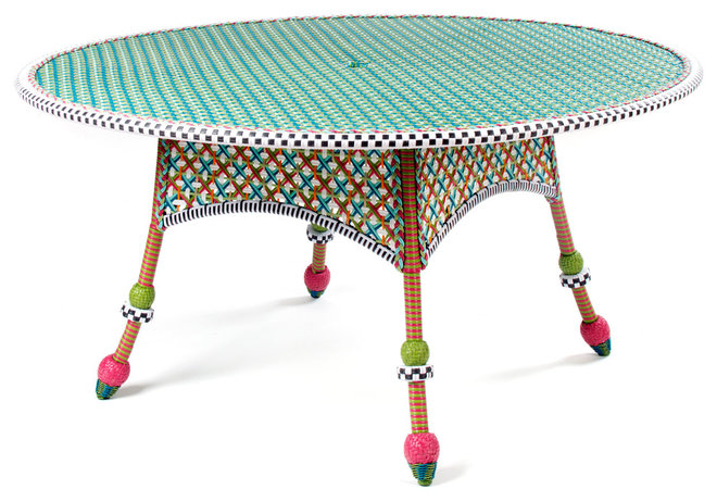Eclectic Outdoor Tables by MacKenzie-Childs