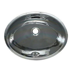 Whitehaus Collection - Whitehaus WH608ABL Polished Stainless Steel Undermount Bathroom Basin Sink - A classic decor brings timeless touch into any home style. Polished stainless steel under mount bathroom basin sink by Whitehaus offers a seamless bowl with smooth oval basin inspired by a past century decor. This classic oval single bowl provides old world designs with sophistication and style into new era.