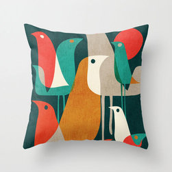 Partridge Throw Pillow Cover - Each Partridge Throw Pillow Cover is printed on both sides, has a concealed zipper, and has been cut and sewn by hand from 100% spun-polyester poplin fabric. Perfect for couches, beds, and chairs, the pillow cover's lively design will enrich and liven up any room you toss it in.