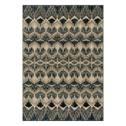 """Loloi Rugs - Loloi Rugs Vista Collection - Taupe / Blue, 3'-9"""" x 5'-2"""" - Power loomed in Egypt, the Vista Collection offers striking pattern inspired by ethnic textiles. All nine designs share a color palette of desert hues like rust, taupe, and more on a 100% polypropylene fiber for strong durability. Available in six sizes including a scatter and a runner."""