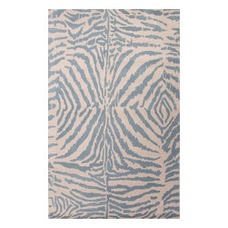 Jaipur Rugs - Hand-Tufted Animal Print Pattern Wool Black/Ivory Area Rug ( 2x3 ) - En Casa is the design collection of Cuban born, Queens, NY raised painter and surface designer, Luli Sanchez. This collection is based off of her painterly works of art that capture an organic and moody yet optimistic spirit. Her hand drawn florals and geometrics were truly inspiring for this Hand Tufted collection.