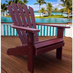Shine Company Newport Oversized Adirondack Chair - You'll enjoy the Shine Company Newport Oversized Adirondack Chair for years which is a good thing because this particular chair is designed with years of useful life in mind. Rather than being built with lumber in the traditional way this chair is made from synthetic wood a material that looks and feels like natural wood but offers superior resistance to UV exposure moisture and weathering. This chair arrives partially assembled includes stainless steel hardware and is available in your choice of finishes. About Shine Co.Shine Co. has been producing quality wood furniture home accents and decorative pieces for over 30 years. It has an honest straightforward mission to supply its customers with charming functional pieces made of natural materials. Each piece is assembled by an experienced craftsman with great care and attention to detail.