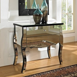 Mirrored 2 Drawer Console - The Mirrored Two Drawer Console is a unique and glamorous addition to your home.