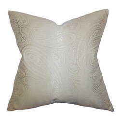 The Pillow Collection - Cashel Paisley Pillow Neutral - Provide a relaxing vibe to your living space with this refined and classy accent pillow. This throw pillow features an elegant paisley pattern in a soft neutral hue. Play up with your decor style by pairing this toss pillow with other patterns like geometric, floral and more. Made in the USA and constructed with 65% cotton and 35% polyester materials.