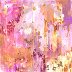 Halcyon Print - As a long-time fan of Michelle Armas, I love this abstract print in shades of pink, purple and gold.