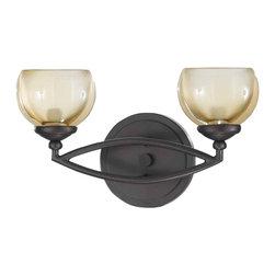 Triarch International - Triarch 25372 Retro Bronze 2 Light Vanity - Triarch 25372 Retro Bronze 2 Light Vanity