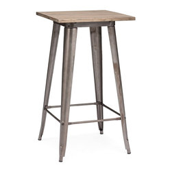 Zuo Modern - Zuo Modern Titus Modern Era Bar Table X-881106 - This table has a solid reclaimed wood top with a solid steel frame in a faux rust galvanized steel finish.