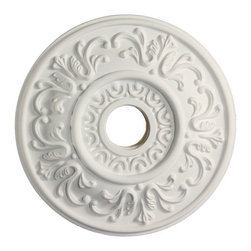 uDecor - MD-5201 Ceiling Medallion - Ceiling medallions and domes are manufactured with a dense architectural polyurethane compound (not Styrofoam) that allows it to be semi-flexible and 100% waterproof. This material is delivered pre-primed for paint. It is installed with architectural adhesive and/or finish nails. It can also be finished with caulk, spackle and your choice of paint, just like wood or MDF. A major advantage of polyurethane is that it will not expand, constrict or warp over time with changes in temperature or humidity. It's safe to install in rooms with the presence of moisture like bathrooms and kitchens. This product will not encourage the growth of mold or mildew, and it will never rot.