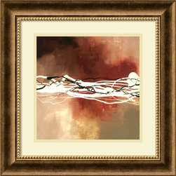 Amanti Art - Copper Melody I Framed Print by Laurie Maitland - Can you hear it? A crackle of energy buzzes across moody copper and taupe in this dramatic print. Framed in stately burnished bronze, the piece is richly elegant and modern at the same time. Showcase this masterful abstract painting in your room to create instant intrigue and atmosphere.