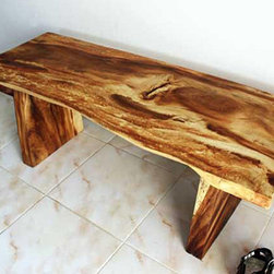 Wooden Natural Edge Bench - I love that Overstock is partnering up with artists like the couple that designed this bench. Plus, I like the bench.
