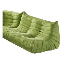 Modway - Waverunner Loveseat in Green - Provide natural comfort at every gathering with a balanced set of functional symmetry. Observe as Waverunner interplays ergonomics with dense foam cushioning to precisely reflect full relaxation. Wander through the pathways of elucidation with a multi-layered environment of intricate folds and holistic positioning.