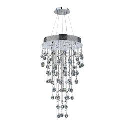 Worldwide Lighting - Worldwide Lighting W83212C18 Icicle 7-Light Chrome Finish Chandelier - Worldwide Lighting W83212C18 Icicle 7-Light Chrome Finish with Clear Crystal Chandelier