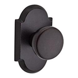 Baldwin Hardware - Baldwin Reserve Rustic Knob, Dark Bronze - Full Dummy - Full Dummy function