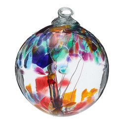 Inova Team -Craftman Recycled Glass Handmade Tree Globes, Tree Globe-Friendship - Celebrate those dearest to you with elegant 100% recycled glass globes, featuring an interior glass trunk that branches out to support vibrant splashes of color. Handmade in Canada