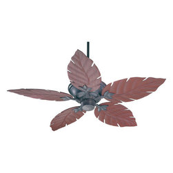 "Quorum International - Quorum International 135525-44 Toasted Sienna Monaco Patio Tropical / - Q135525 Features:  Lifetime motor warranty ABS blades (plastic) Includes 80"" of lead wire Includes 3.5"" and 6"" downrod 188 x 15 motor size 3 Speeds Remote control adaptable Detachable switch cup UL Wet Rated Old World Comes With Walnut Blades, Studio White Comes With Studio White Blades, Toasted Sienna Comes With Rosewood Blades, Satin Nickel Comes With Maple Blades  Q135525 Specifications:  Number of blades: 5 Blade span: 52"" Blade pitch: 14 degrees Airflow: 5055 CFM"