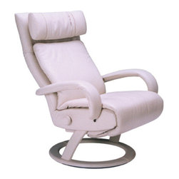 Lafer Alicia Recliner - Ergonomic Swivel Base Leather Recliner Massage Chair
