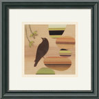 Amanti Art - That's a Lovely Idea Framed Print by Amy Ruppel - Artist Amy Ruppel mixes mediums beautifully in her playful pieces featuring birds. You could easily add this whimsical piece to your living room or bedroom and pull accent colors from its warm palette for decorating. It's a great addition to your eclectic home.