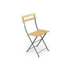 patio furniture and outdoor furniture Fermob Natural Folding Chair