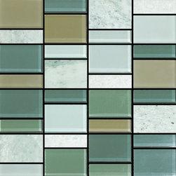 Ibiza Prime - Ibiza PrimeIbiza Prime Random Size Glass and Marble Mix Mosaic