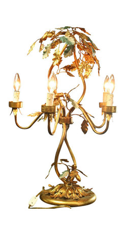 EuroLux Home - Venetian Lamp Large Table Lamp Consigned Antique - Product Details