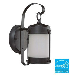 Glomar - Outdoor Lighting. Piper Wall-Mount Outdoor Textured Black Light Fixture - Shop for Lighting & Fans at The Home Depot. This Glomar Piper Wall-Mount Outdoor Textured Black Light Fixture has a classic lantern style with a textured-black finish and a frosted-glass shade to add subtle elegance to your outdoor decor. It is weather resistant and features a built-in photocell for dusk-to-dawn operation, providing you with convenience and peace of mind. This fixture will add to the curb appeal of any home.