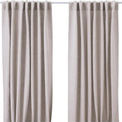 AINA Pair of Curtains - Linen curtains are typically quite pricey, but not this pair. I have a them in my own home, hung up with brass curtain rings on this rod. The look is a substantial upgrade from your standard rod curtains in this price range.