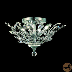 Christopher Knight Home - Christopher Knight Home Crystal 4-light Chrome Chandelier Flush Mount - An elegant addition to any room,this crystal flush-mount chandelier features four lights and a chrome fixture finish. This beautiful chandelier measures 10 inches high and 20 inches in diameter,and professional installation is recommended.