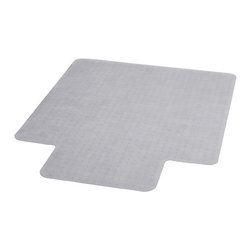 "Flash Furniture - 36"" x 48"" Carpet Chairmat with Lip - Protect your carpet and roll smoothly with this durable chairmat. This mat includes a protruding lip to protect the floor under the desk when the chair is rolled all the way under the desk. This carpet chairmat features a scuff and slip resistant textured top and small studded anchors on back to properly grip carpet."