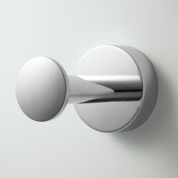 Prague Robe Hook - Add instant chic to your bathroom with the modish Prague Collection Robe Hook. This solid brass robe hook runs circles around other bath accessories.