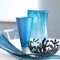 Vase Blue Glass