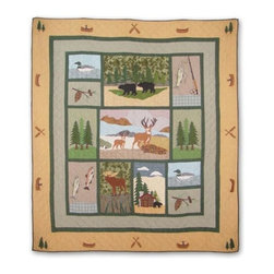 Patch Quilts - Lodge Fever Twin Quilt - -Constructed of 100% Cotton  -Machine washable; gentle dry  -Made in India Patch Quilts - QTLGFV