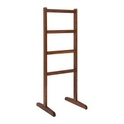 Area Inc. - Alfred Walnut Pant Rack - Area Inc. - Hang your pants from the sleek Alfred Walnut Pant Rack. Made from solid walnut wood with an oil finish, this clothing rack keeps both denim and dress pants organized and free of wrinkles. Set it inside a closet or bedroom alongside other traditional design elements.